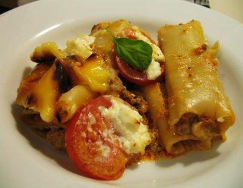 Cannelloni mit Ricotta und Tomaten